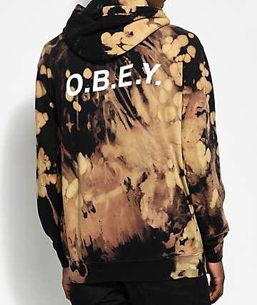 Obey Bleach Spill Hoodie