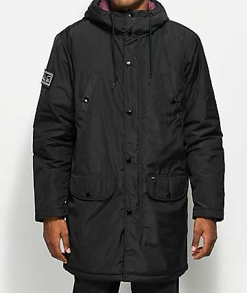 Obey Blizzard Black Parka Jacket
