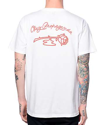 Obey Blood Rose White Pocket T-Shirt