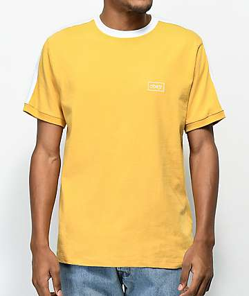 Obey Borstal Yellow & White T-Shirt