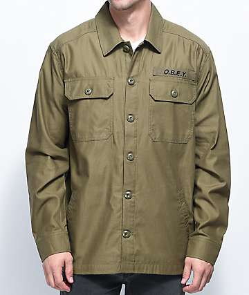 Obey Breakdown Green Army Jacket