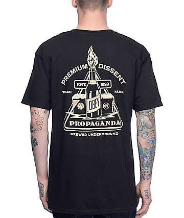 Obey Brewed Underground Black T-Shirt