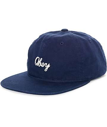 Obey Bridgeport Navy Strapback Hat