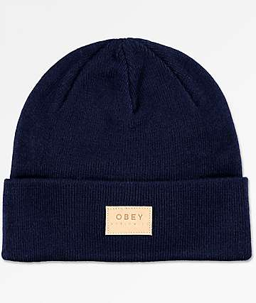 Obey Briean Blue Violet Beanie