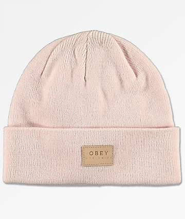 Obey Briean Light Pink Beanie