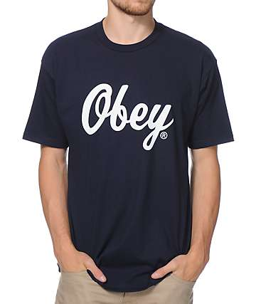 Obey Bringing It Back Navy T-Shirt