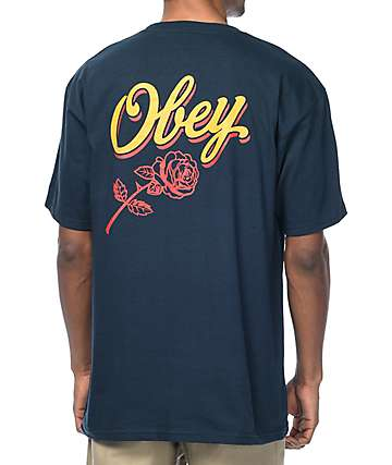 Obey Careless Whisper Navy T-Shirt