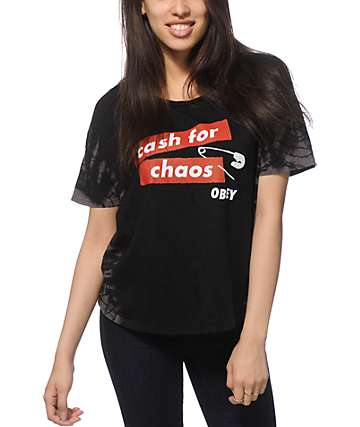 Obey Cash For Chaos Tie Dye T-Shirt