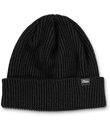 Obey Caster Black Beanie