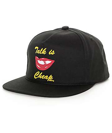 Obey Cheap Talk Black Snapback Hat