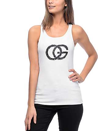 Obey Chloe Sketchy OG White Tank Top