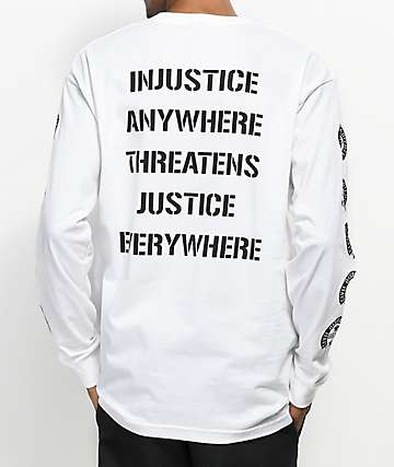 Obey Civil Disobedience camiseta blanca de manga larga