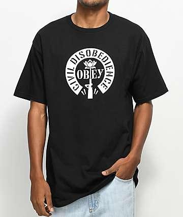 Obey Civil Disobedience camiseta negra