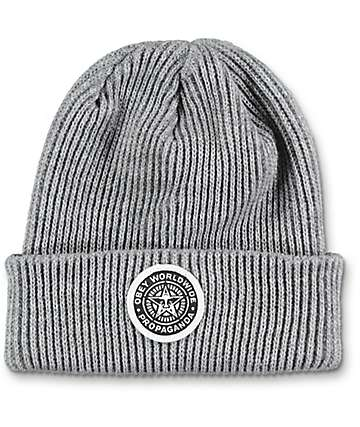 Obey Classic Patch Grey Beanie