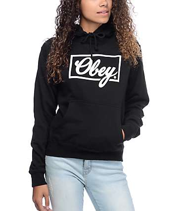 Obey Club Script Black Hoodie