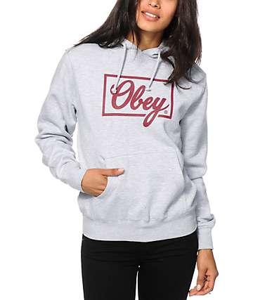 Obey Club Script sudadera con capucha
