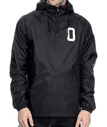 Obey Collegiate O chaqueta anorak forrada en negro