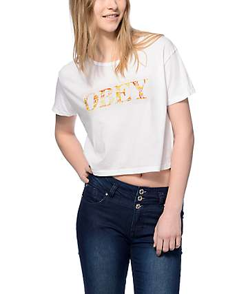 Obey Color Theory Crop Top T-Shirt