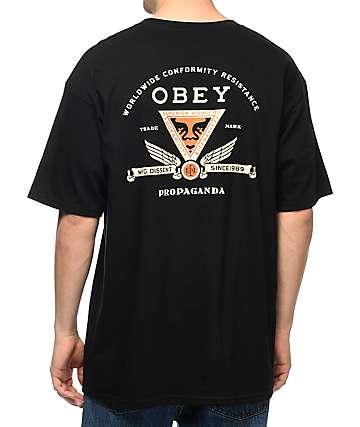 Obey Conformity Resistance camiseta negra