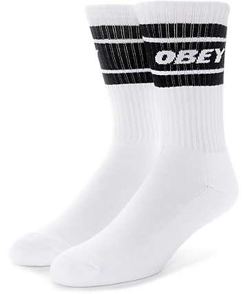 Obey Cooper II calcetines en blanco y negro