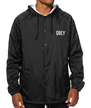Obey Corner Block Hooded Coach Jacket
