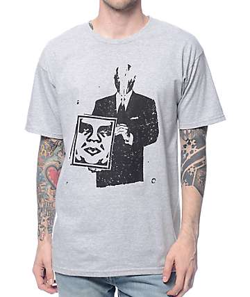 Obey Corporate Violence Heather Grey T-Shirt