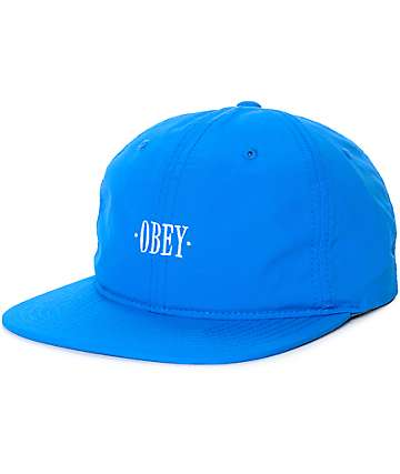 Obey Courtland Blue Six Panel Strapback Hat