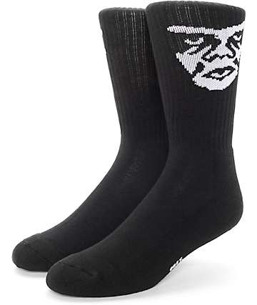 Obey Creeper Black Crew Sock