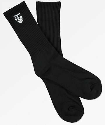 Obey Creeper Black Crew Socks