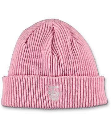 Obey Creeper Pale Pink Beanie