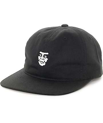 Obey Creeper Uncon 6 Panel Black Strapback Hat