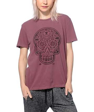 Obey Day Of The Dead Oxblood T-Shirt