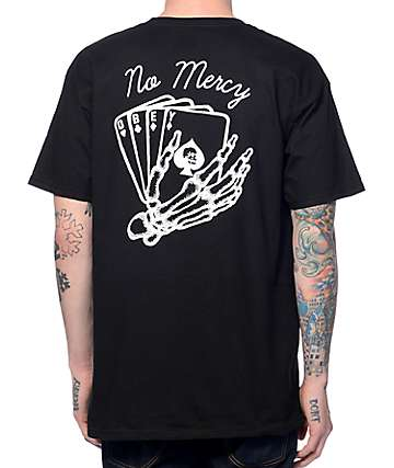 Obey Death Card Black T-Shirt