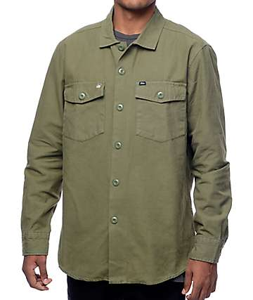 Obey Defense Army Button Up Shirt