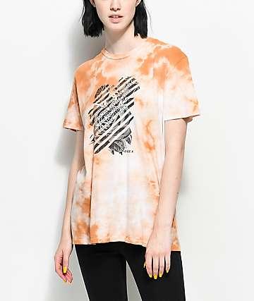 Obey Defiant Rose camiseta con efecto tie dye en color caramelo polvareda