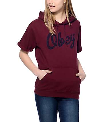 Obey Dewall Short Sleeve Port Royale Hoodie