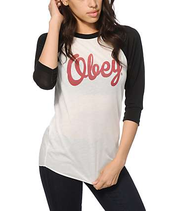 Obey Dewallen Baseball Tee