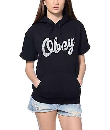 Obey Dewallen Short Sleeve Black Hoodie
