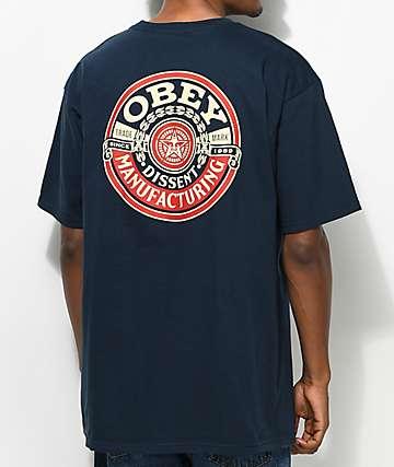 Obey Dissent MFG Wreath camiseta en azul marino