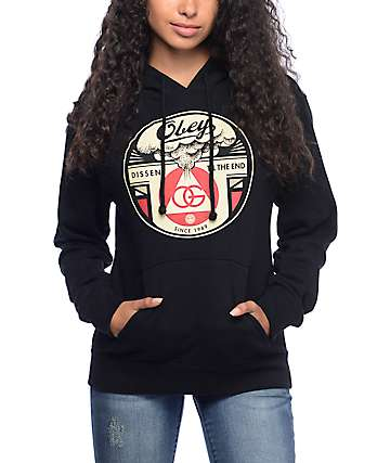 Obey Dissent Till The End Black Hoodie