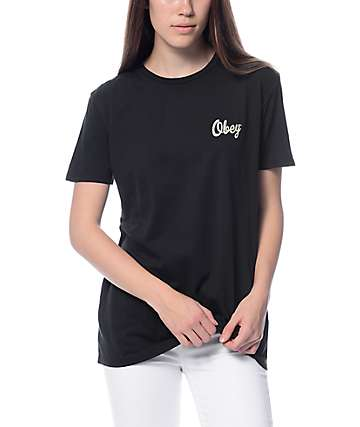 Obey Distressed Dewallen Black T-Shirt