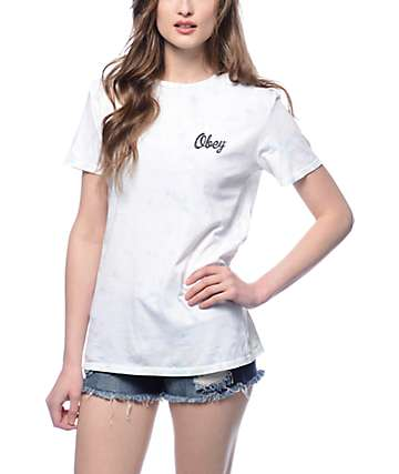 Obey Distressed Dewallen Tie Dye T-shirt