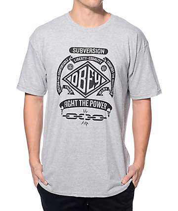 Obey Disturb The Comfortable Heather Grey T-Shirt
