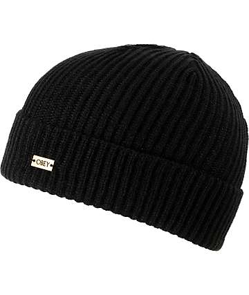 Obey Dover Black Beanie
