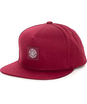 Obey Downtown Wine Snapback Hat
