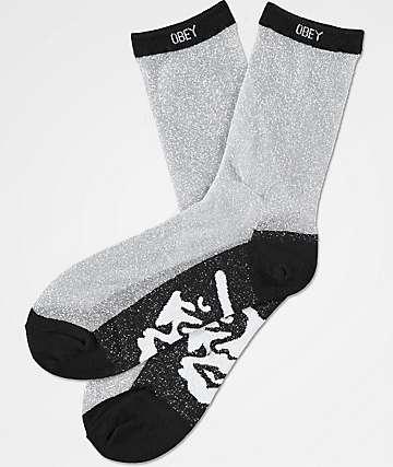 Obey Downtown calcetines transparentes con brillos
