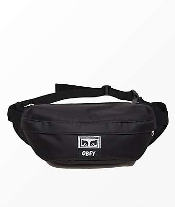 Obey Drop Out Black Sling Pack