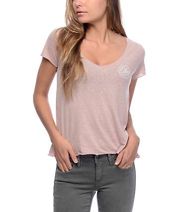 Obey Dylan Ballpoint Heather Mauve T-Shirt