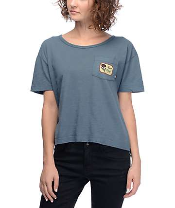Obey Eat Shit Slate Pocket T-Shirt