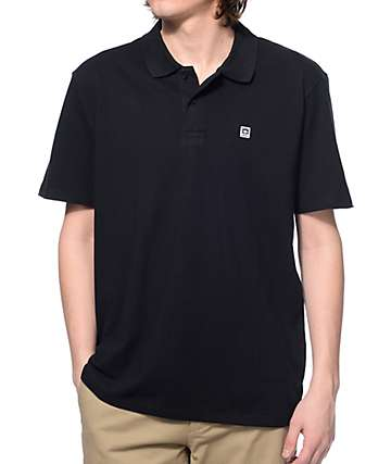 Obey Eighty Nine Black Polo Shirt